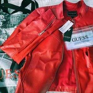 NWT Guess Leather Jacket